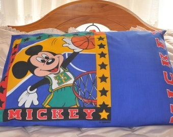 Pillow Case with Mickey Mouse Print