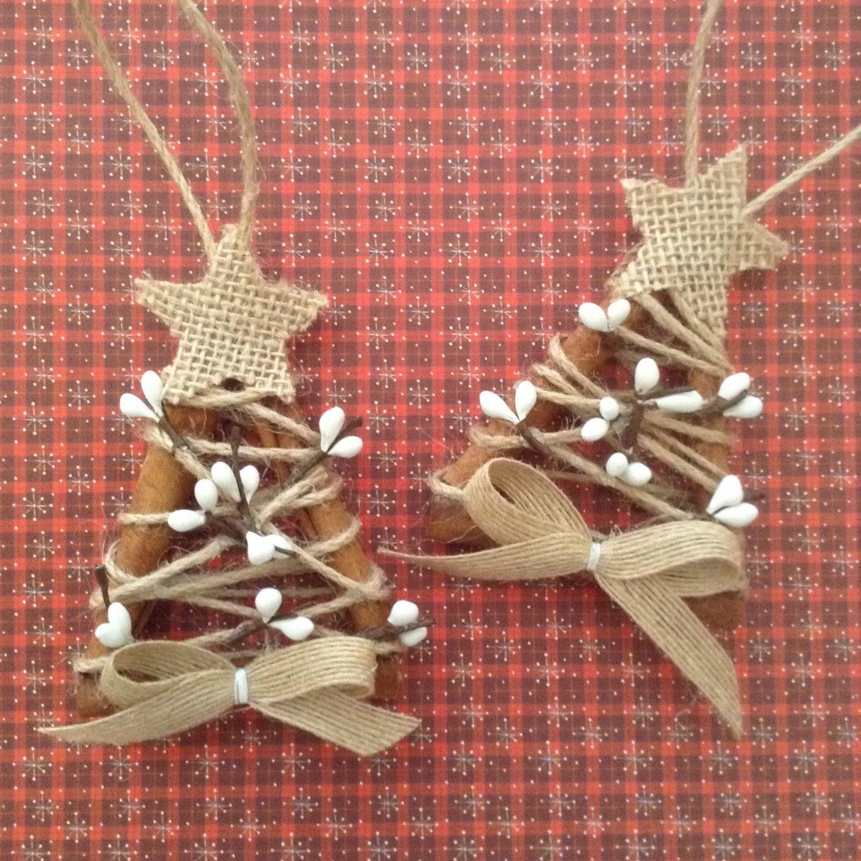 Cinnamon Xmas Decor / Christmas Tree Ornaments / Cinnamon