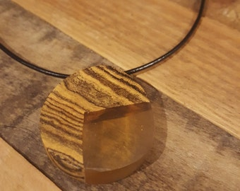 Bocote and Resin Necklace - #RYW018