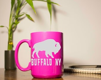 Buffalo NY - Buffalo Coffee Mug - Etched Coffee Mug - Buffalo NY Glass - Buffalo Decor - Buffalo NY Decor - Unique Coffee Mug