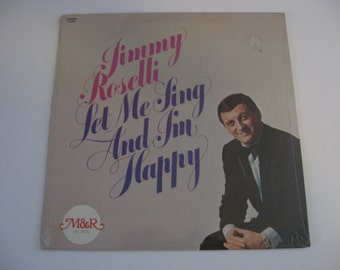 New!  Factory Sealed! - Jimmy Roselli - Let Me Sing And I'm Happy - Circa 1975