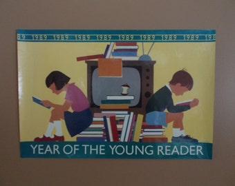 """Vintage"""" Original"""" Year Of The Young Reader   1989 Poster"""