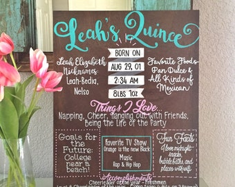 Custom Birthday / Quinceanera Sign