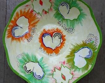 Haitian Handmade Paper Mache Bowl