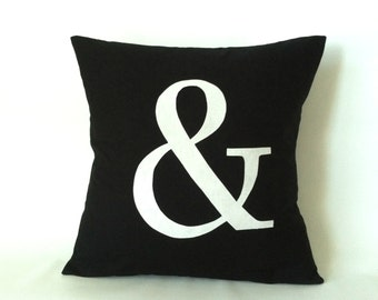 And Sign Pillow Cover - 20 x 20, One, & Pillow, Ampersand Pillow