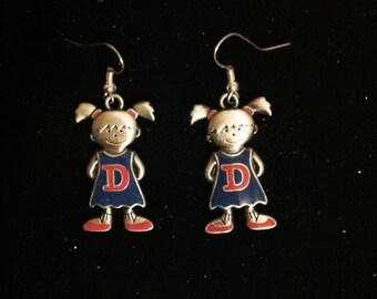 Name Initials Earrings, Earrings With D Initial, Silver Plated Girl, D Initial Earrings, Earrings with D Initial, Earrings with Initials