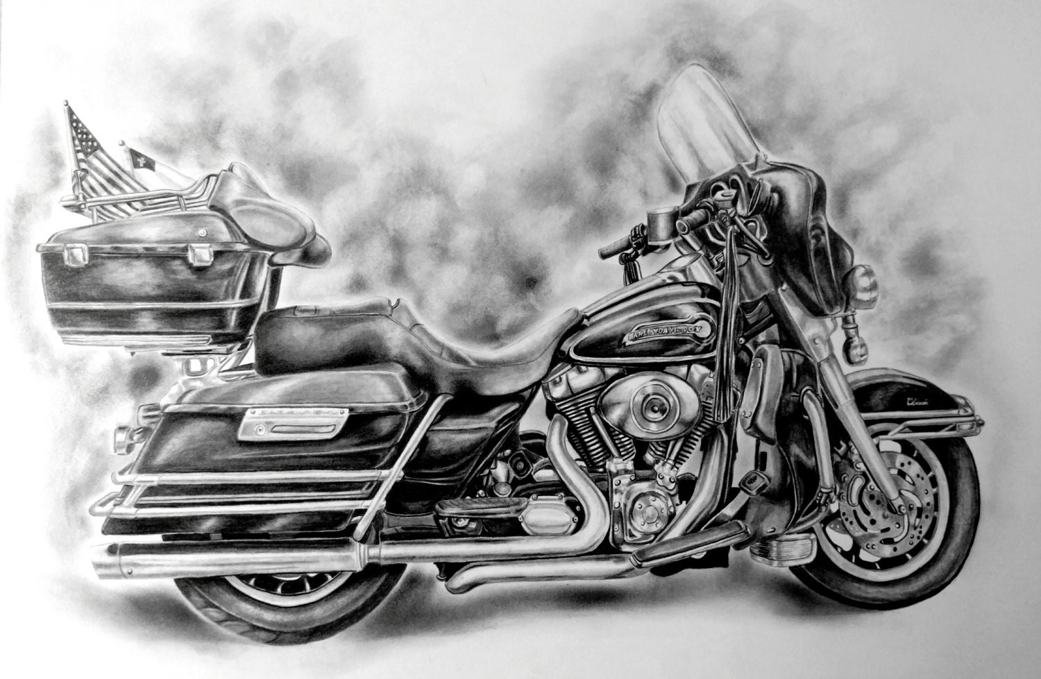 custom harley davidson dessin de votre moto. Black Bedroom Furniture Sets. Home Design Ideas