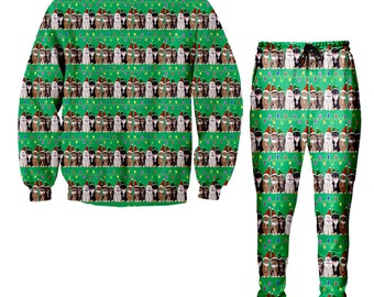Dat boi frog Christmas Sweater and Jogger Pants Tacky