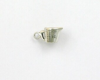 Sterling Silver 3-D 2 Cup Measuring Cup Charm