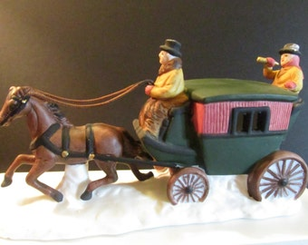 Christmas Village  accessories Horse with coach Dept 56 Heritage  Collection #6590