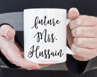 Personalized Muslim engagement mug, islamic wedding gift.