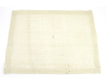 "Ivory 13""x17"" Burlap Placemat Set of 6  Looks great on a dinner table and banquet tables for special events. (BH-P02)"