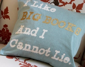 I Like Big Books and I Cannot Lie Pillow 14x14