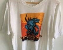 SALE Vintage Godzilla Movie Shirt Rare