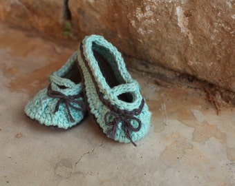 Too Cute Mary Jane baby booties
