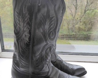 Vintage 'Tony Lama' Mens Cowboy Boots MADE In USA - UK Size 7/6.5 - Lovely!!