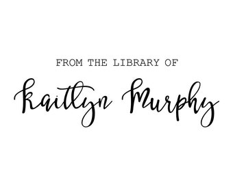 """Custom FROM the LIBRARY to rubber STAMP - personalized stamp, book stamp, library stamp, tag stamp, teacher stamp, 2.8""""x1"""" (cts123)"""