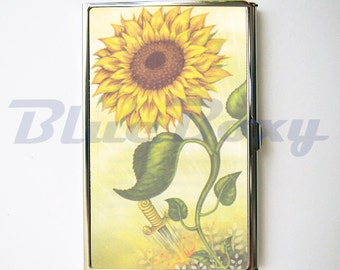 Sunflower - Card Holder, Business Card Case, Credit Card Case