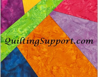 Crazy Patch 34 Paper Foundation Piece Quilting Block Pattern PDF