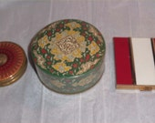 Hold for S/ Cool COTY Deco Compact, 1950s Red Enamel Vanity Case Only