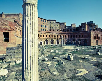 Roman ruins of The Foro Di Traiano, Rome, Italy