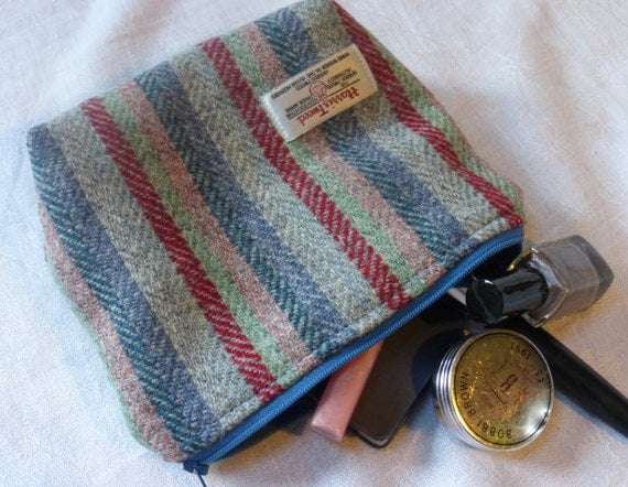 Knitting Accessories Bag : Knitting accessories bag in harris tweed