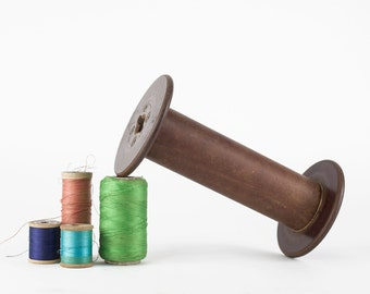 Vintage Textile Thread Spool, Wooden Bobbin, Wood Spool, Industrial Textile Spool