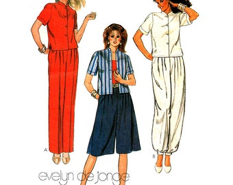 McCall's Sewing Pattern 7899 Misses' Jacket, Pants, Culottes  Size:  8  Uncut