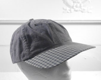 Vintage plaid billed hat
