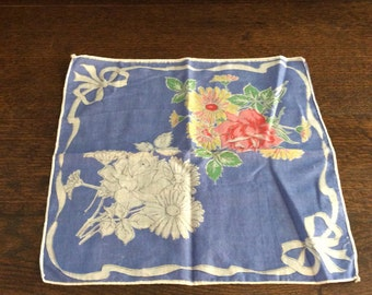 Vintage Handkerchief with Flowers