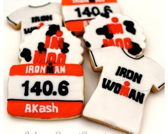 Half Dz. Marathon Cookies! Birthday Favors, Sports Fanatics, Runners, Marathon