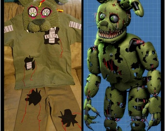 Five Nights at Freddy's INSPIRED Child Costumes and Hats. Springtrap Character
