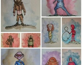 Your choice of 5 A4 superhero series prints