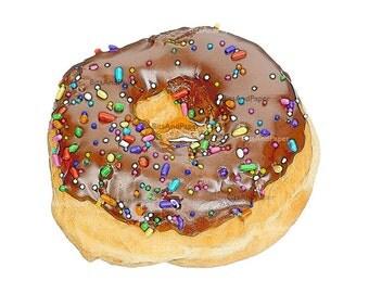 8x10 donut illustration, retro digital image, food illustration, kitchen art download, vintage inspired, printable, digital bakery download