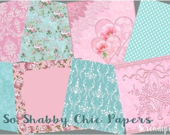 8 So Shabby Chic Papers (8 x 8 inches.)
