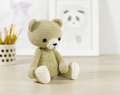 PATTERN: Classic crocheted teddy bear - 4-way jointed - Amigurumi pattern (EN-067)