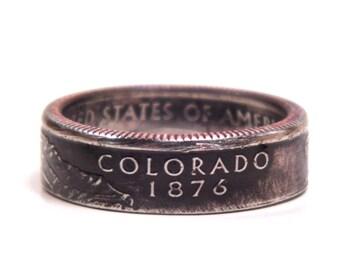 Size 7 1/2 Colorado State Quarter Coin Ring