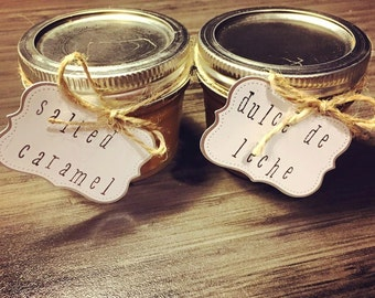 Dulce de leche and/or Salted Caramel  4 oz Jars