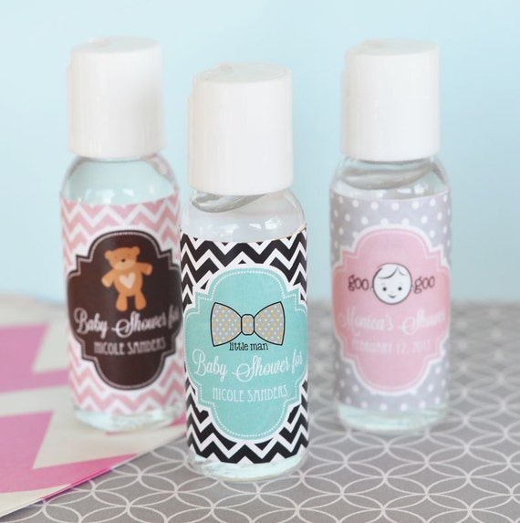 personalized hand sanitizer favors ct baby shower favor, Baby shower invitation