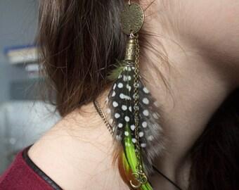 "Feather earrings ""Aishani"""