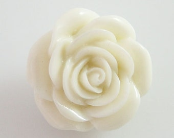 NEW! KB2269 3D White Rose Resin Snap