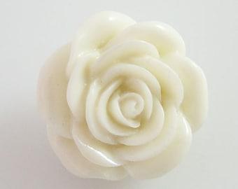 NEW! KB2269 3D White Rose Resin Snap