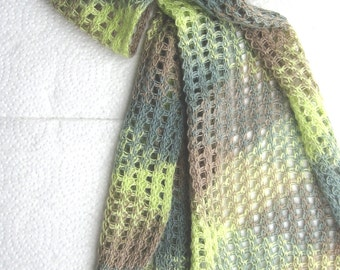 Summer Scarf Open Weave with Fringes