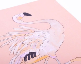 """Notebook with Pink Flamingo design – Perfect binding – 5,5"""" x 8,5"""" – Ruled Pages"""