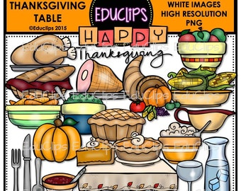 The Thanksgiving Table Clip Art