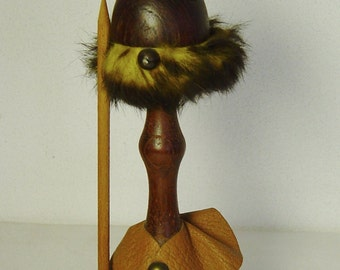 tall Danish Modern Teak Viking figure Bolling Lonborg Era