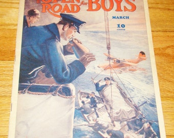 Vintage March 1941 The Open Road for Boys Magazine