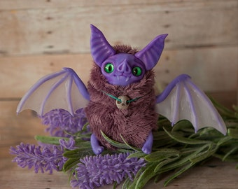 MADE TO ORDER Furry Bat art doll