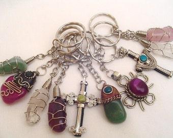 33 Assorted Ethnic Keychains - Handmade in Peru