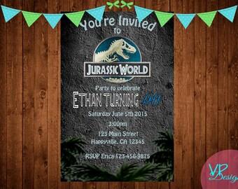 Jurassic World Birthday Invitations Etsy